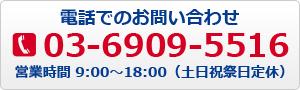 電話番号03-6909-5516