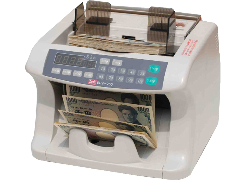 偽造券発見機能付紙幣計数機 EUV-750